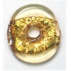 Glass Lamp Bead 20x20mm Ring Gold